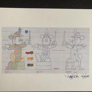 "Disney lithograph ""Mickey Band Concert Turnaround"""